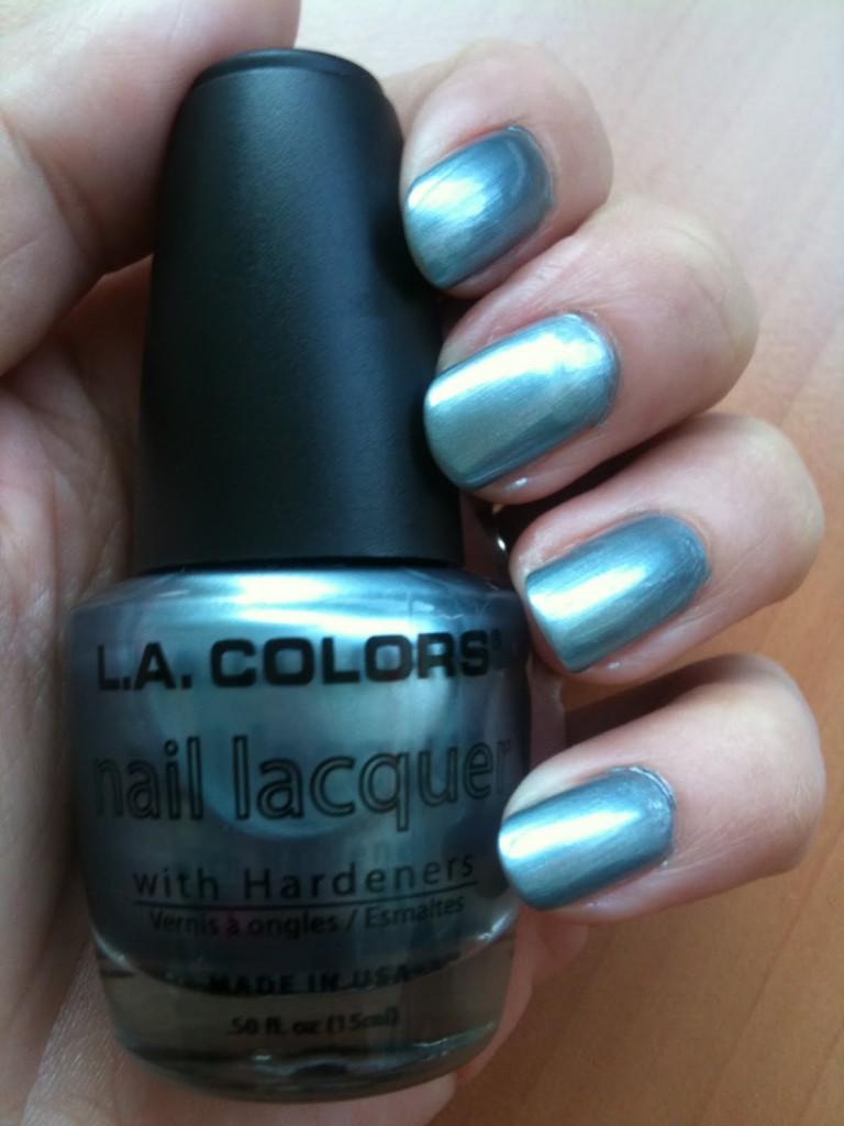 Vernis gris bleu métaliisé