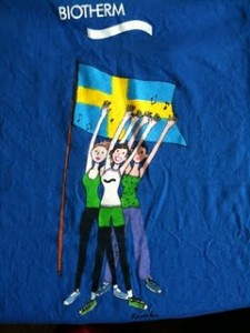 T shirt de gym suédoise Biotherm