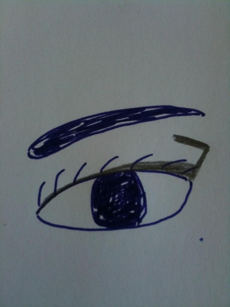 schéma maquillage yeux