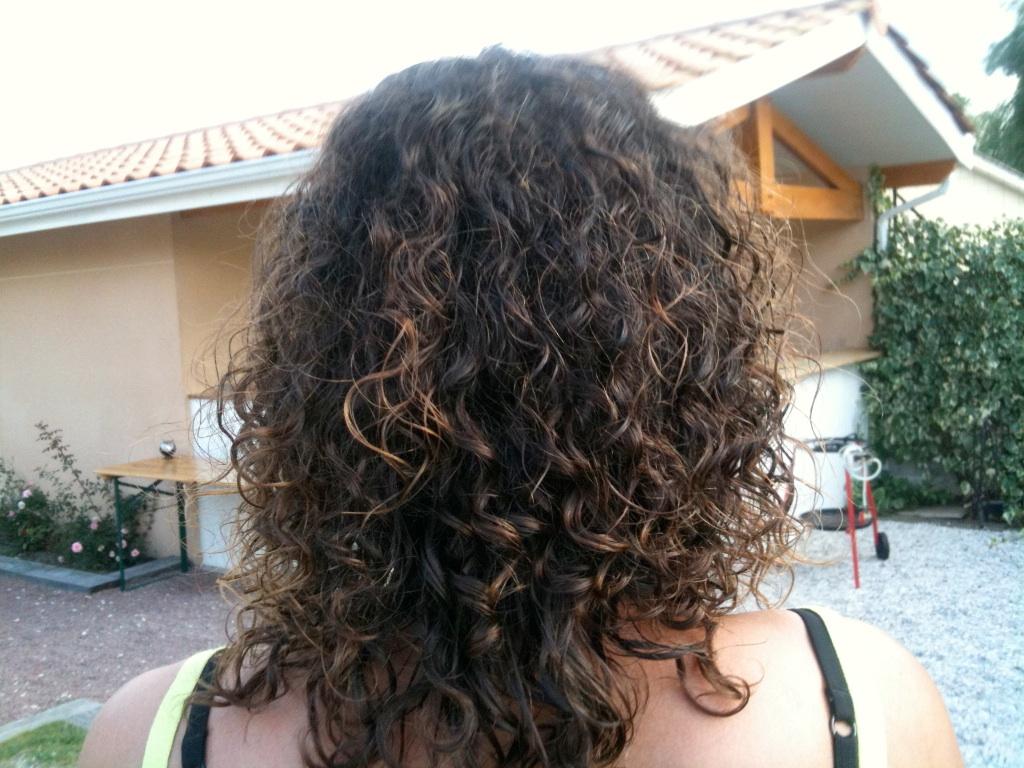 Cheveux bouclés naturels avant lissage