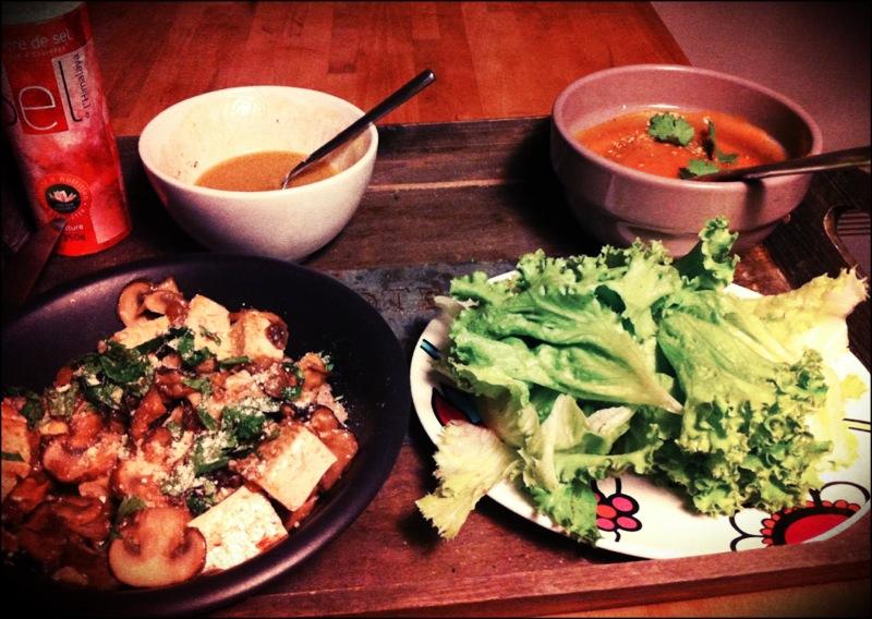 plateau repas vegan