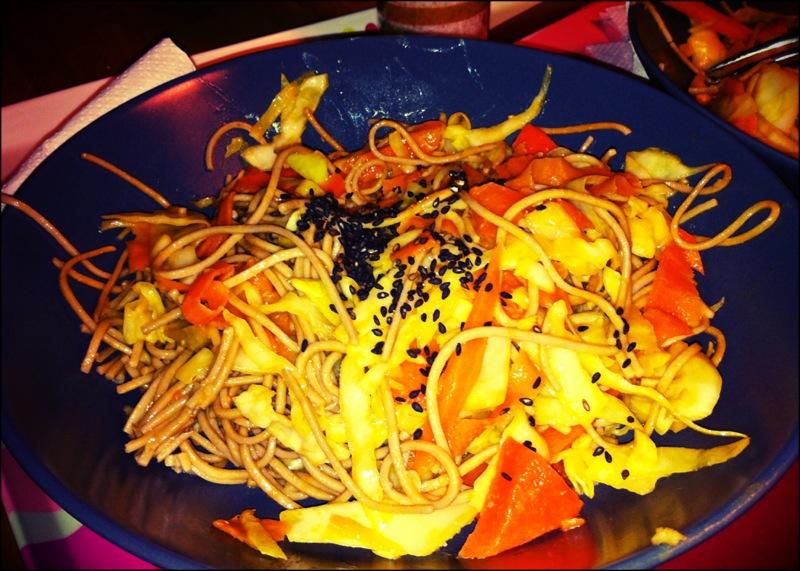 Avec des carottes, du sésame, du chou...