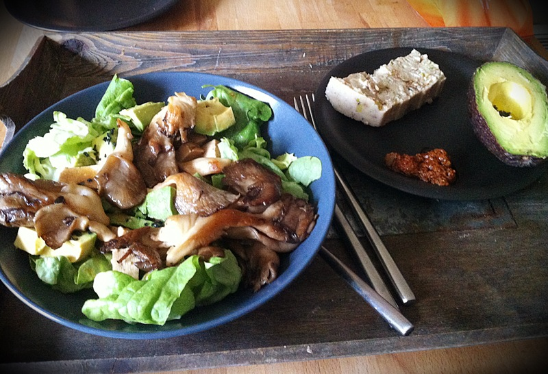 salade aux pleurottes