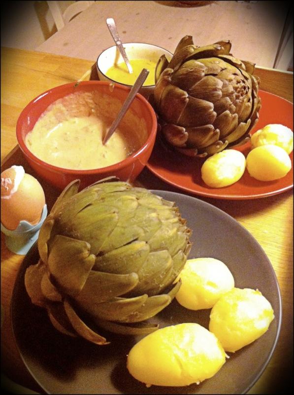 Artichauts à l'huile de truffe