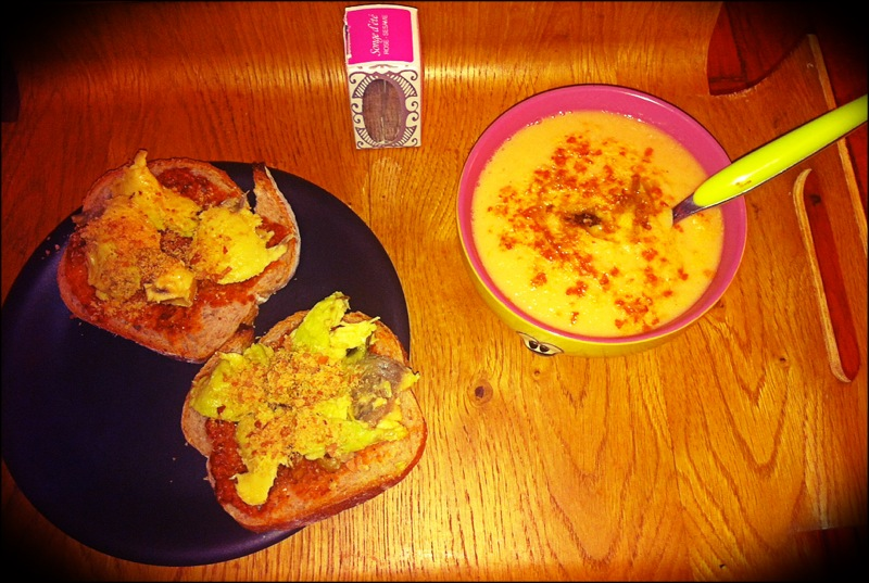 Repas soupe tartines