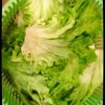En lavant ma salade…