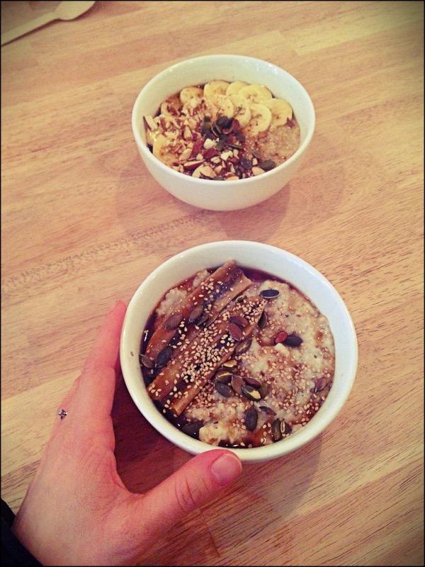 Le fameux porridge.