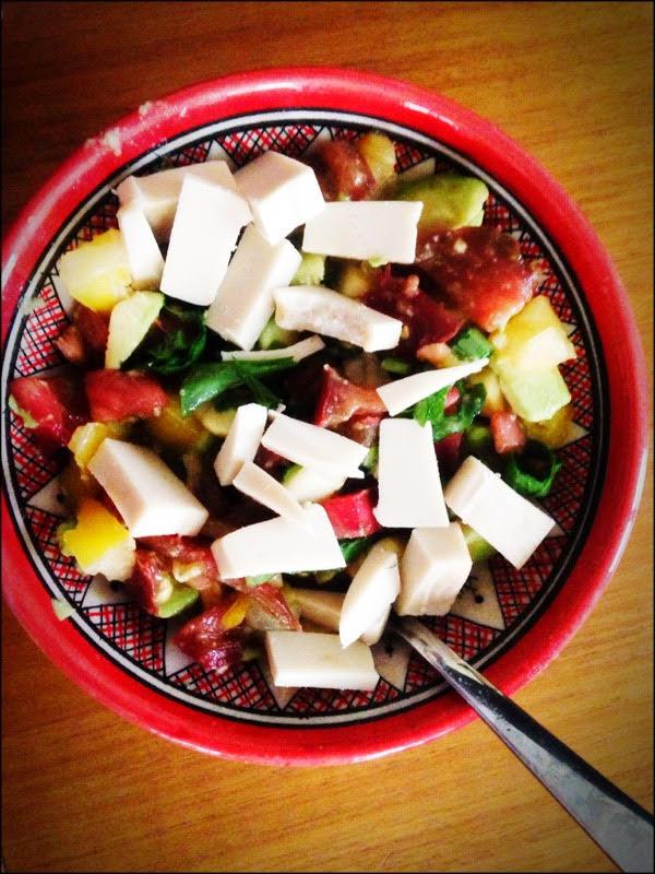 vegusto fromage végétal salade vegan