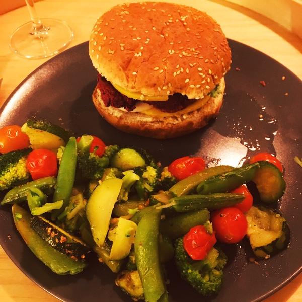 burger maison végétalien