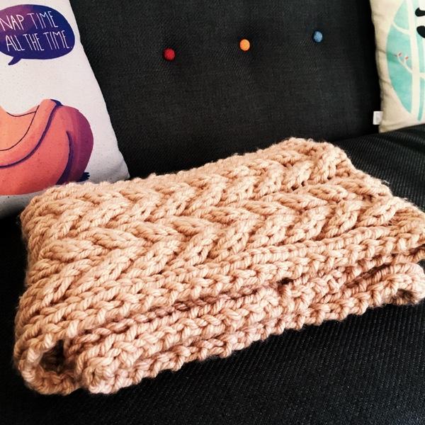 fil à tricoter écharpe vegan
