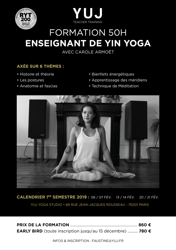 Teacher Training Yin Paris